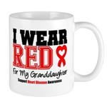 I Wear Red Granddaughter Mug