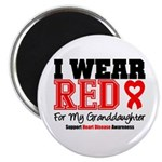 I Wear Red Granddaughter Magnet