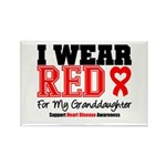 I Wear Red Granddaughter Rectangle Magnet