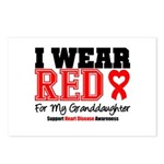 I Wear Red Granddaughter Postcards (Package of 8)