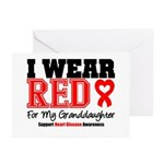 I Wear Red Granddaughter Greeting Cards (Pk of 10)