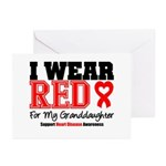 I Wear Red Granddaughter Greeting Cards (Pk of 20)