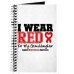 I Wear Red Granddaughter Journal