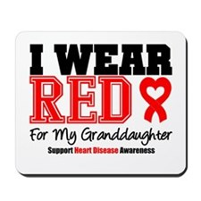 I Wear Red Granddaughter Mousepad