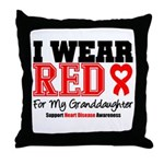 I Wear Red Granddaughter Throw Pillow