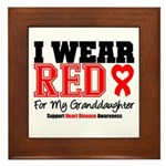 I Wear Red Granddaughter Framed Tile