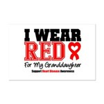 I Wear Red Granddaughter Mini Poster Print