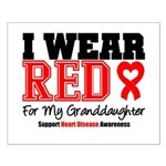 I Wear Red Granddaughter Small Poster