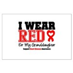 I Wear Red Granddaughter Large Poster