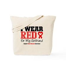 I Wear Red Girlfriend Tote Bag