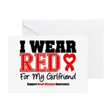 I Wear Red Girlfriend Greeting Cards (Pk of 20)
