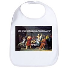 Socrates: Knowledge Books Wisdom Bib