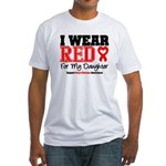 I Wear Red Daughter Fitted T-Shirt