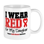 I Wear Red Daughter Mug