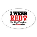 I Wear Red Daughter Oval Sticker