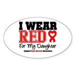 I Wear Red Daughter Oval Sticker (10 pk)