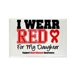 I Wear Red Daughter Rectangle Magnet (100 pack)