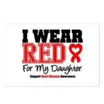 I Wear Red Daughter Postcards (Package of 8)