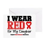 I Wear Red Daughter Greeting Card