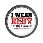 I Wear Red Daughter Wall Clock