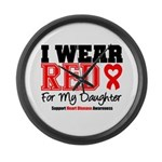 I Wear Red Daughter Large Wall Clock
