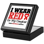 I Wear Red Daughter Keepsake Box