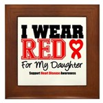 I Wear Red Daughter Framed Tile