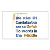 Capitalization - Rectangle Decal