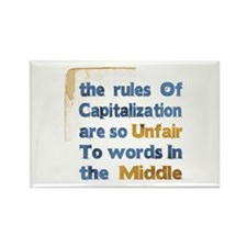 Capitalization - Rectangle Magnet (10 pack)