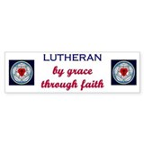 Lutheran by Grace 1 Bumper Bumper Sticker
