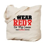 I Wear Red Cousin Tote Bag