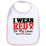 I Wear Red Cousin Bib