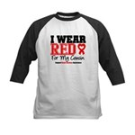I Wear Red Cousin Kids Baseball Jersey