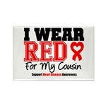 I Wear Red Cousin Rectangle Magnet (10 pack)