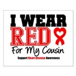 I Wear Red Cousin Small Poster