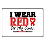 I Wear Red Cousin Banner