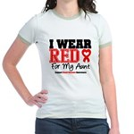 I Wear Red Aunt Jr. Ringer T-Shirt