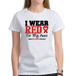 I Wear Red Aunt Women's T-Shirt