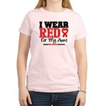 I Wear Red Aunt Women's Light T-Shirt