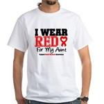 I Wear Red Aunt White T-Shirt