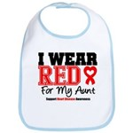 I Wear Red Aunt Bib