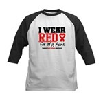 I Wear Red Aunt Kids Baseball Jersey