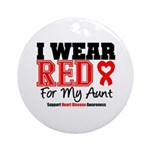 I Wear Red Aunt Ornament (Round)