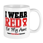 I Wear Red Aunt Mug