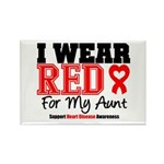 I Wear Red Aunt Rectangle Magnet (10 pack)
