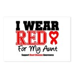 I Wear Red Aunt Postcards (Package of 8)