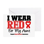 I Wear Red Aunt Greeting Card