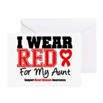 I Wear Red Aunt Greeting Cards (Pk of 10)