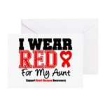 I Wear Red Aunt Greeting Cards (Pk of 20)