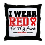 I Wear Red Aunt Throw Pillow